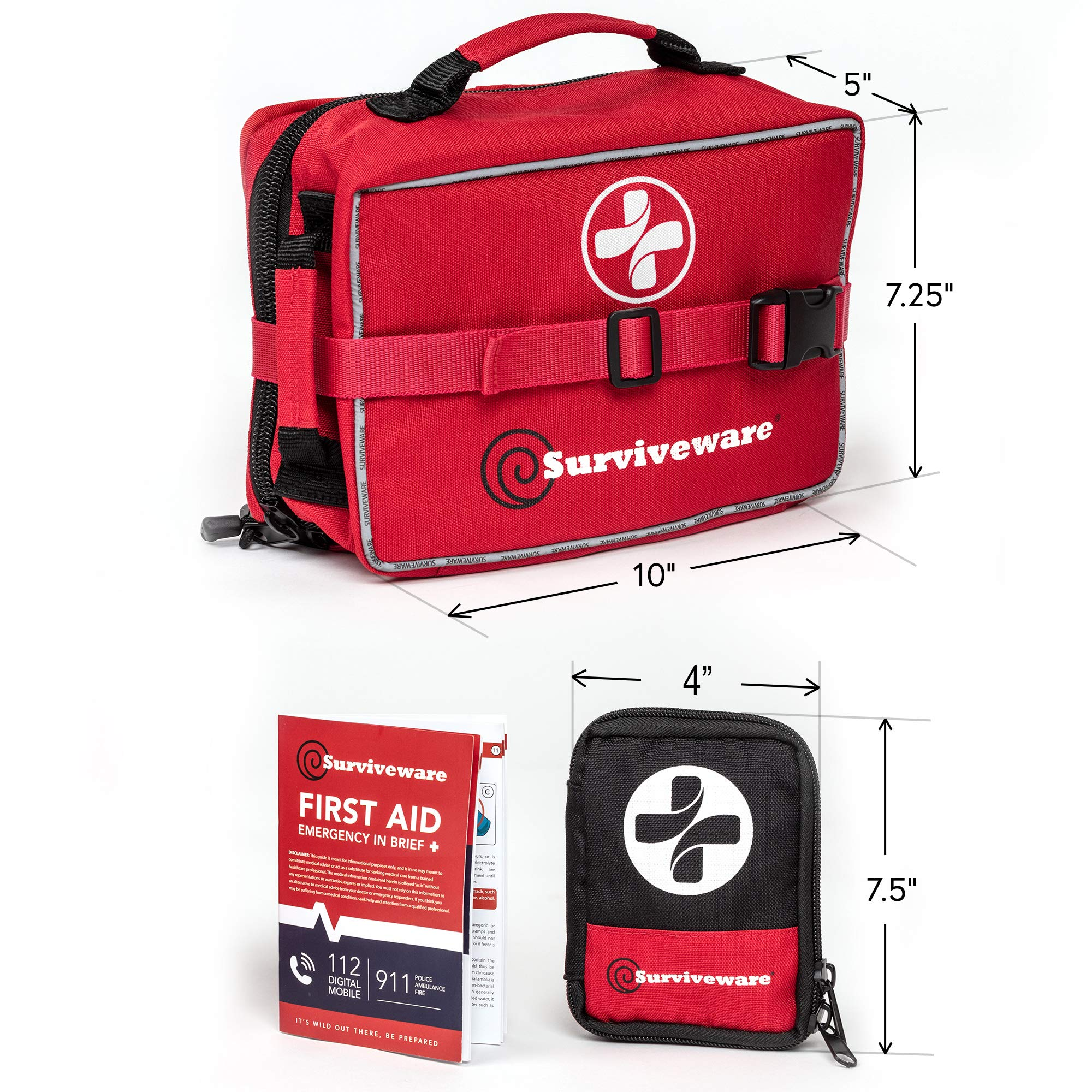 Surviveware Large First Aid Kit & Added Mini Kit by Surviveware (Image #8)
