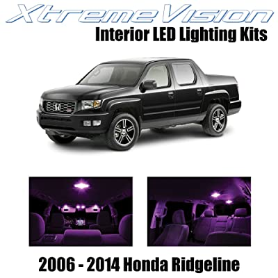 Xtremevision Interior LED for Honda Ridgeline 2006-2014 (18 Pieces) Pink Interior LED Kit + Installation Tool: Automotive