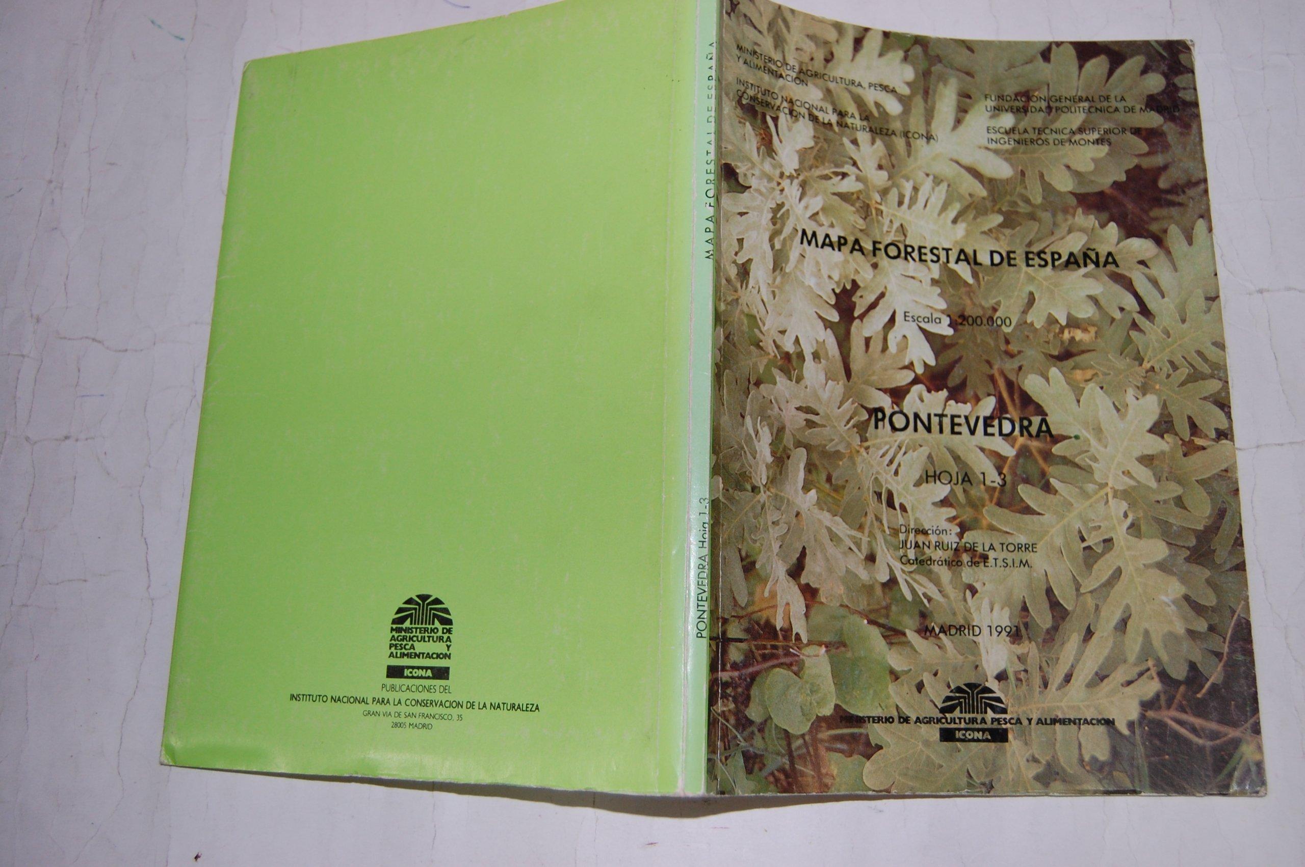 Mapa Forestal De Espana 1 200000 Hoja 1 3 Pontevedra