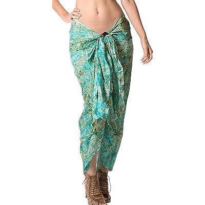 01b718c7938f3  La Leela  main maillots de bain peint plage féminin maillot de bain bikini  jupe