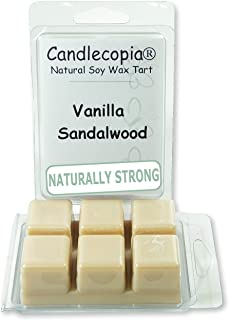 product image for Candlecopia Vanilla Sandalwood Strongly Scented Hand Poured Vegan Wax Melts, 12 Scented Wax Cubes, 6.4 Ounces in 2 x 6-Packs