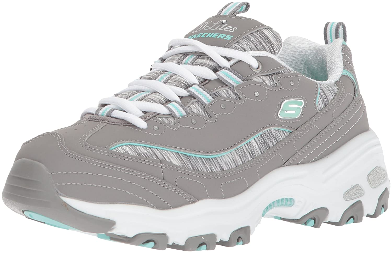 Skechers Women's DLites Interlude Sneaker B074FNTSJH 9 B(M) US|Gray Mint