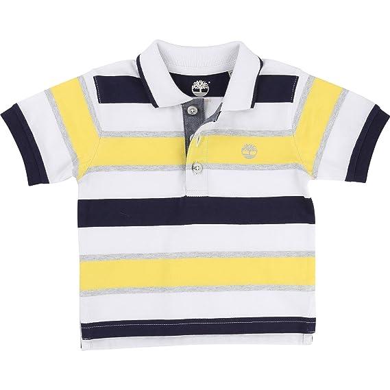 Timberland - Polo - para bebé niño Amarillo Lemon 4 años: Amazon ...