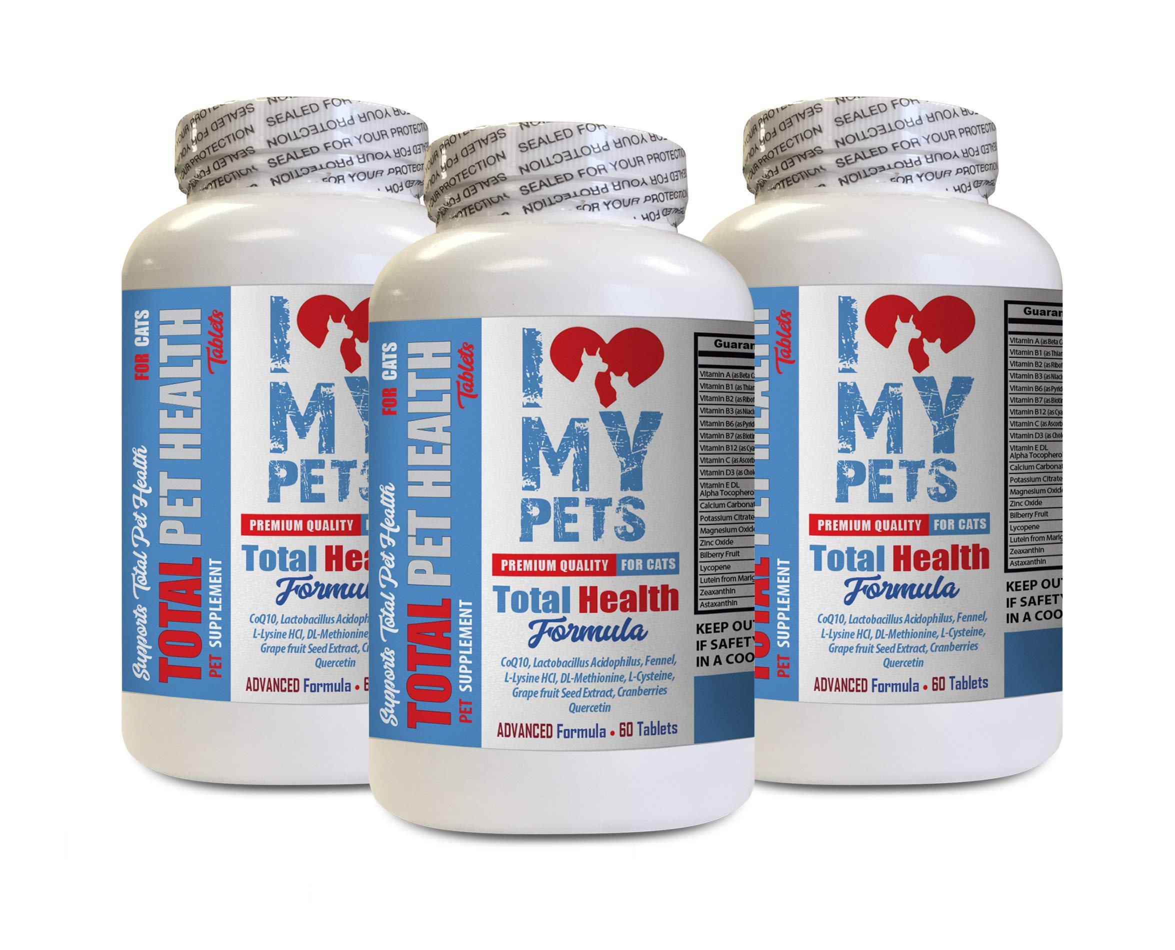 I LOVE MY PETS LLC cat Allergy Chews - Total PET Health for Cats - Premium Quality Formula - Chews - Vitamin c for Cats - 3 Bottles (180 Treats)