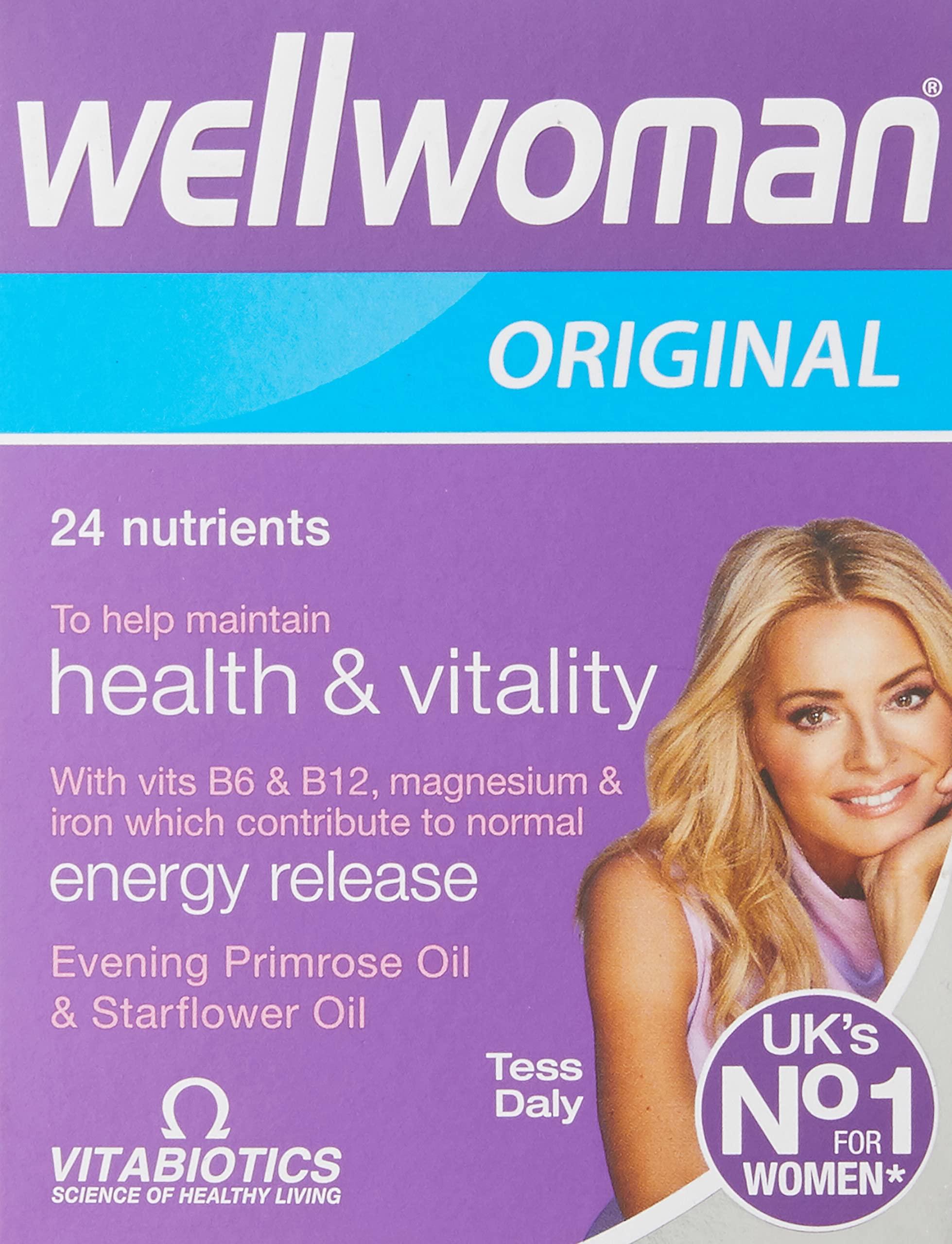 Wellwoman Vitabiotics Advanced Vitamin & Mineral Formula with Evening Primrose & Starflower Oils 30 Capsules