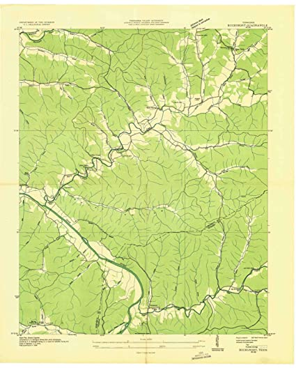 Amazon.com: YellowMaps Bucksnort TN topo map, 1:24000 Scale, 7.5 X ...
