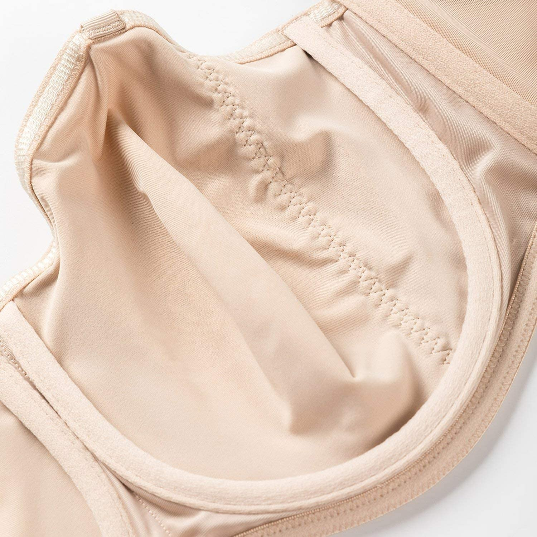 Womens Smooth Seamless Invisible Underwire Strapless Minimizer Bra,Beige02,G,40