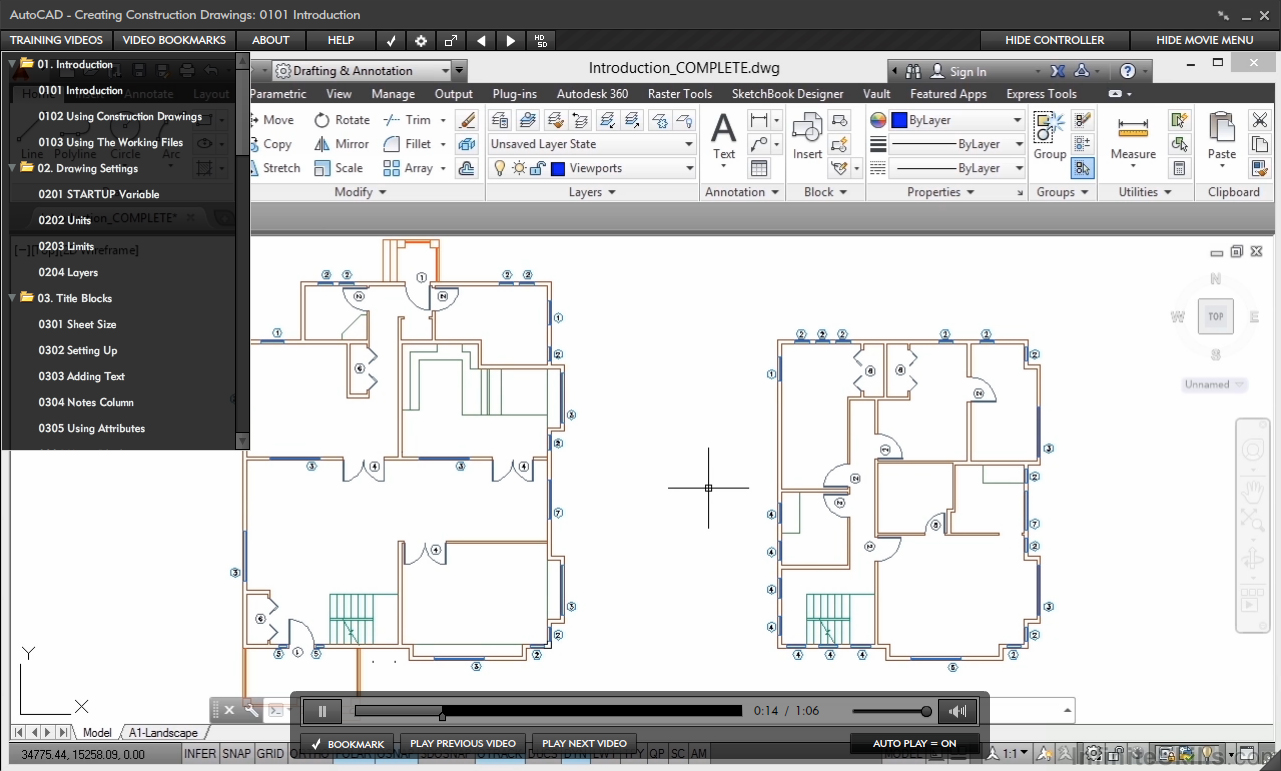 AutoCAD - Creating Construction Drawings [Online Code] by Infiniteskills