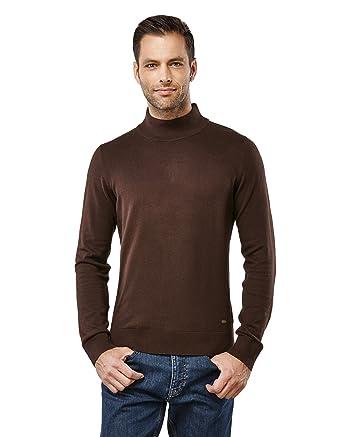 Vincenzo Boretti Men's Sweater Ribbed Turtle-Neck Slim-Fit at Amazon Men's  Clothing store: