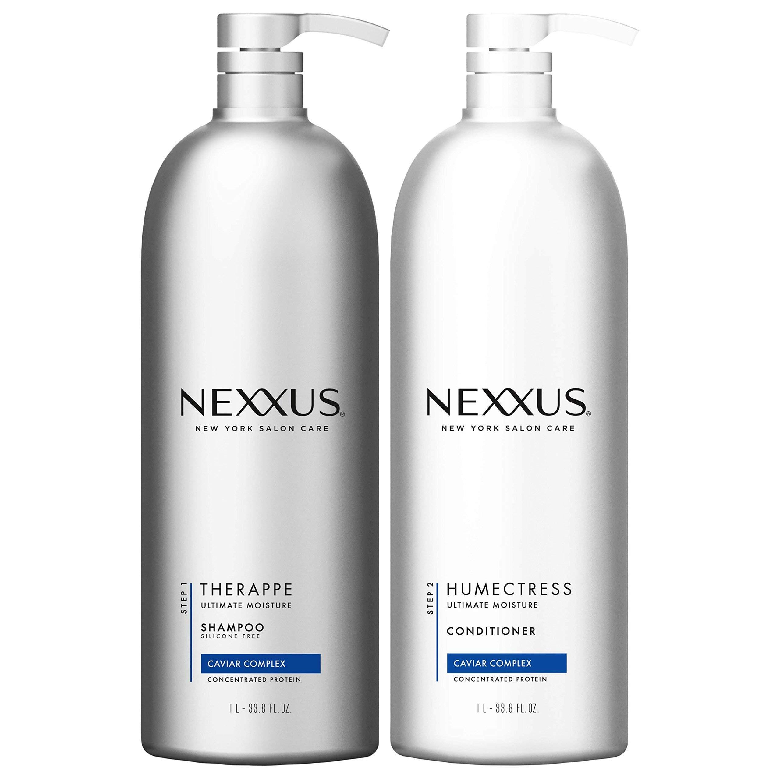 Nexxus Deep Hair Hydration Therappe Caviar Complex 33.8 floz and Humectress Caviar Complex Conditioner 33.8 floz by Nexxus