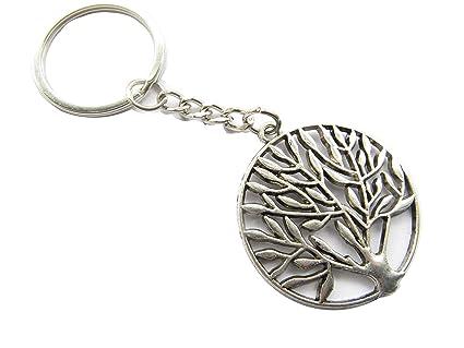 Antiguo Árbol de plata árbol de la vida llavero, llavero ...