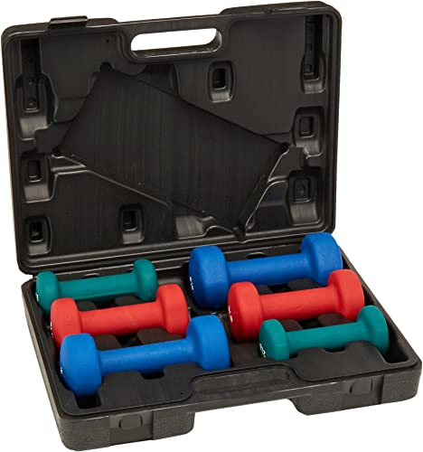 Sunny Neoprene Dumbbell Set with case 2-5 Pounds