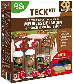 BSI 5367 Teck Kit d\'entretien pour meubles de jardin en teck avec ...