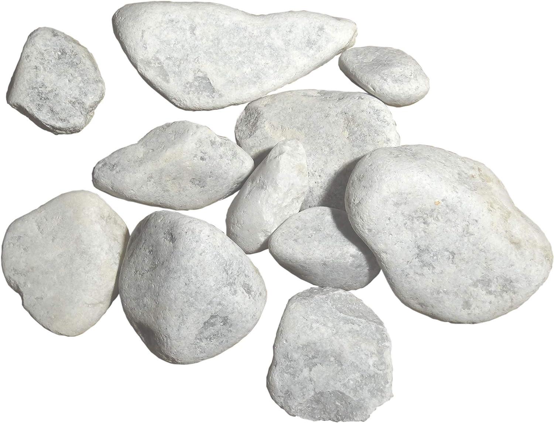 750 Kg de gravier Blanc roul/é rond pour Jardin all/ée et d/écoration /à lint/érieur et /à lext/érieur marbre 60-100 mm
