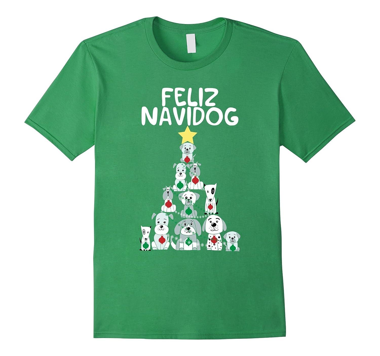 Feliz Navidog Christmas Dog T-Shirt, Funny Cute Xmas Tree-FL