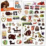 The Secret Life of Pets - 75 Assorted Temporary Tattoos