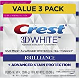 Crest 3D White Brilliance, Fluoride Anticavity Teeth Whitening Toothpaste