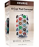 Keurig Storage Carousel, Coffee Pod Storage, Holds up to 36 Keurig K-Cup Pods, Silver