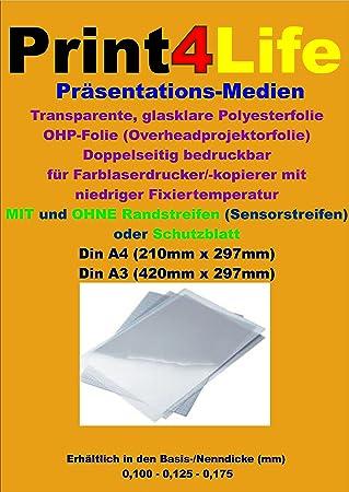 50 hojas de A4 universal OHP película transparente para las ...