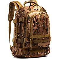 RXARMY 3-Day Expandable Backpack Military Backpack Molle Assault Bag Hiking Bag Large Rucksack for Comping, Traveling, Trekking & Hunting
