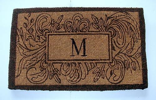 Geo Crafts Imperial Marsailles Doormat, 24 x 39-Inch, M Monogram