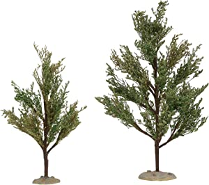 Department 56 Village Cross Product Accessories Southern Oak Tree Figurine Set, 9 and 12 Inch, Multicolor