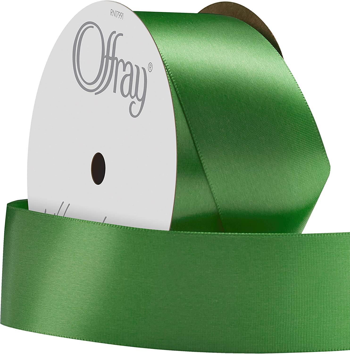 1-1//2-Inch by 10-Yard Spool Offray Single Face Satin Craft Ribbon Azalea