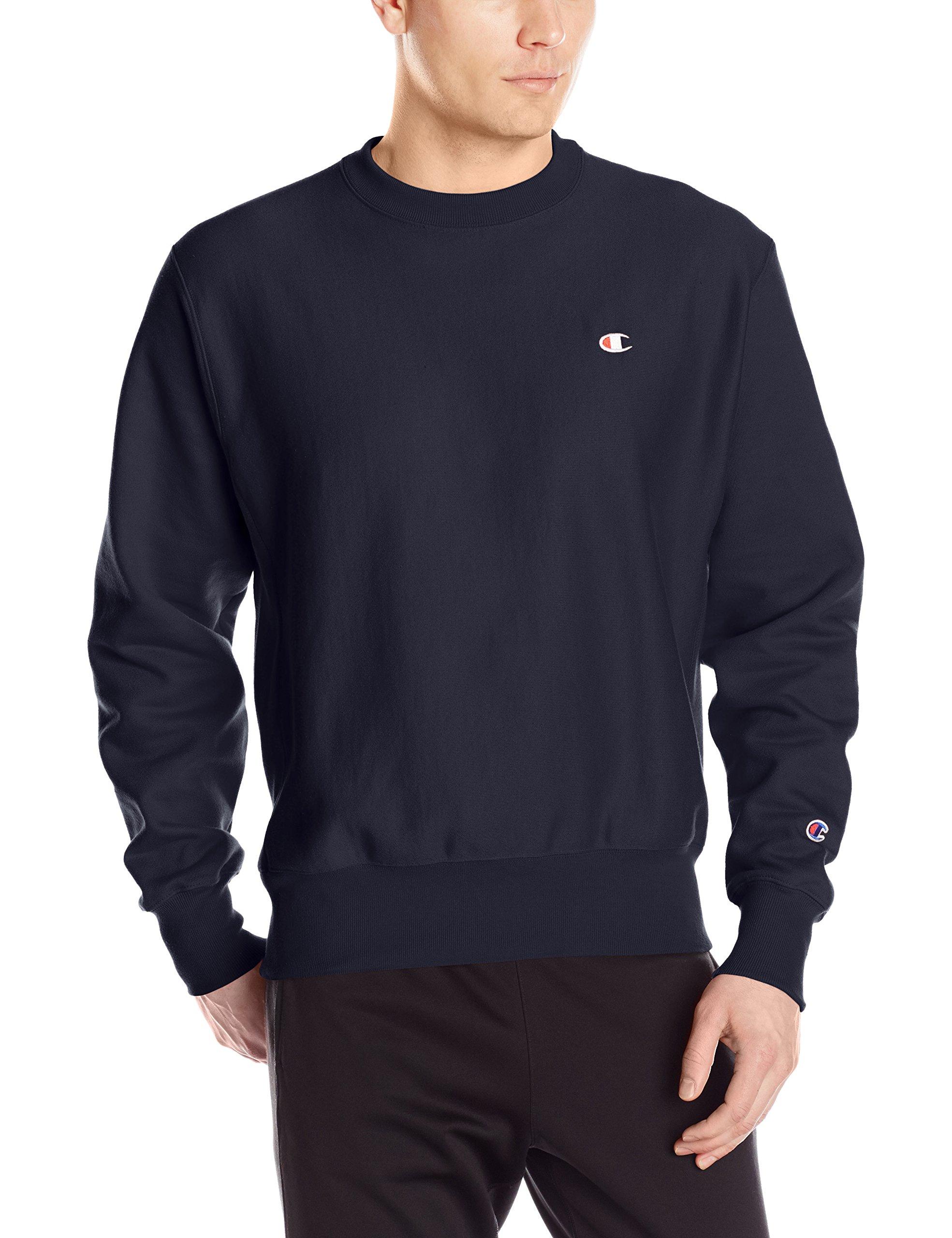 Champion LIFE Men's Reverse Weave Sweatshirt, Navy, Small