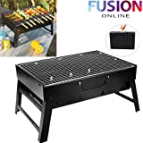 LARGE FOLDABLE STEEL BBQ BARBECUE FLAT PORTABLE CAMPING OUTDOOR GARDEN GRILL NEW