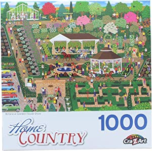 Botanical Garden Flower Show 1000 Piece Collector Puzzle by Artist: Mark Frost