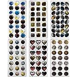 FUNSHOWCASE Rose, Heart, Dome, Diamond,Oval Shape Chocolate Mold PS Plastic 6-Piece Set Bite Size