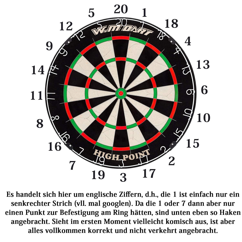 Dartscheibe Dartboard Kork Offizielles Profi Turnierma/ß