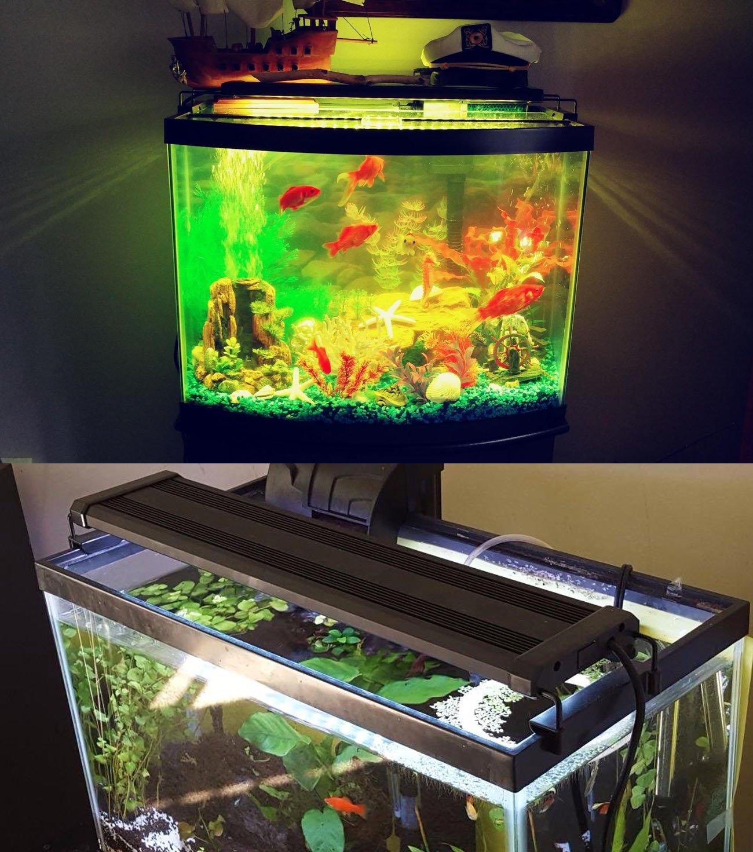 COODIA COODIA COODIA Aquarium Hood Illuminazione Che Cambia colore Telecomando Luce dimmerabile RGBW LED per Acquario Fish Tank, allungabile (per Acqua Dolce e salata), 11-19inch, Cruz V2 Fresh Foam 864916