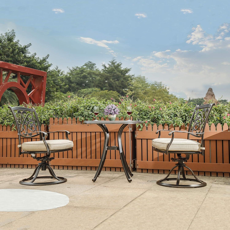 dali Patio Glider chairs, Garden Backyard Chairs Outdoor Patio Furniture 2 Pcs Sets