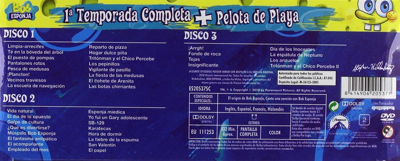 Bob Esponja 1ª Temp. + Pelota Playa [DVD]: Amazon.es: Varios: Cine ...