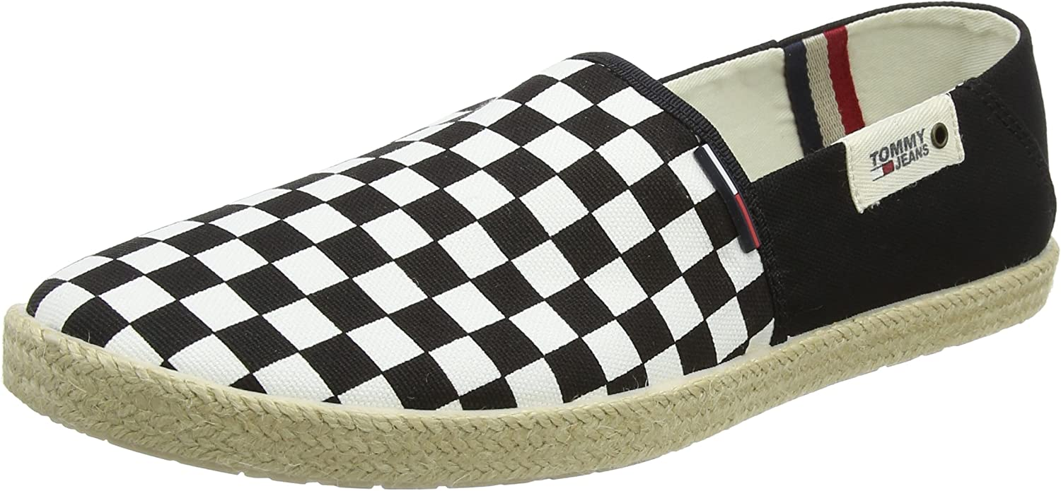 TALLA 43 EU. Tommy Jeans Check Slip On Shoe, Mocasines para Hombre