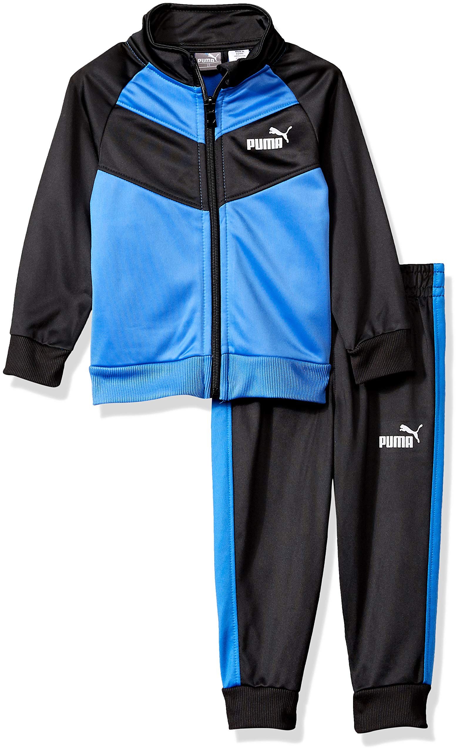 PUMA Toddler Boys' 2 Piece Tricot Set, Strong Blue, 4T