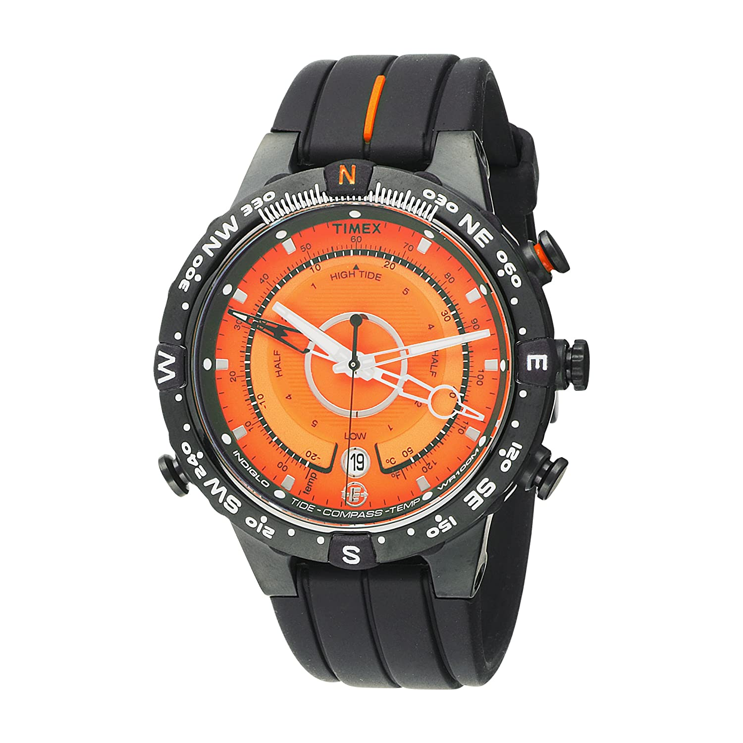 Amazon.com: Timex Mens T49706 E-InstrumentsTM Black Case and Resin Strap E-Tide-Temp-Compass Expedition Watch: Timex: Watches