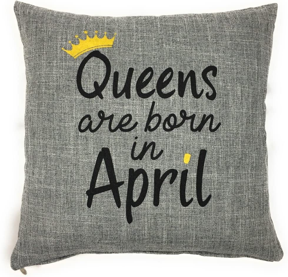 Churchill China Queens nacen en abril de manta funda de almohada–regalo de cumpleaños para las mujeres por lerage camisas