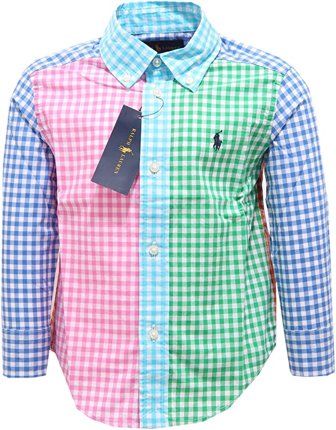 Ralph Lauren - Camisa - para niño multicolor 110 cm: Amazon.es: Ropa y accesorios