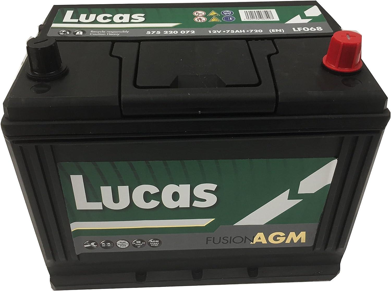 EN Lucas Batterie Voitures Fusion AGM LF068 D26 12 V 75AH 720 AMPS