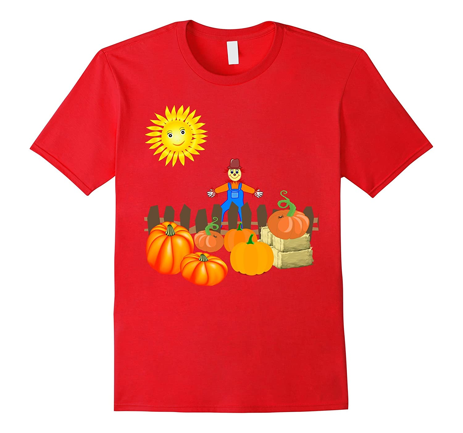 Happy Harvest Scarecrow Pumpkin Patch Novelty T-Shirt-TJ