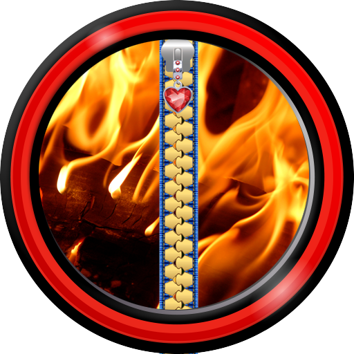 Zipper Lock Screen - Fire