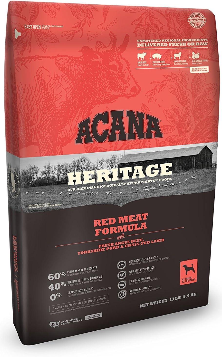ACANA (1) 13 lb Formula Heritage Meats Dry Dog Food. 13 lb. Bag,