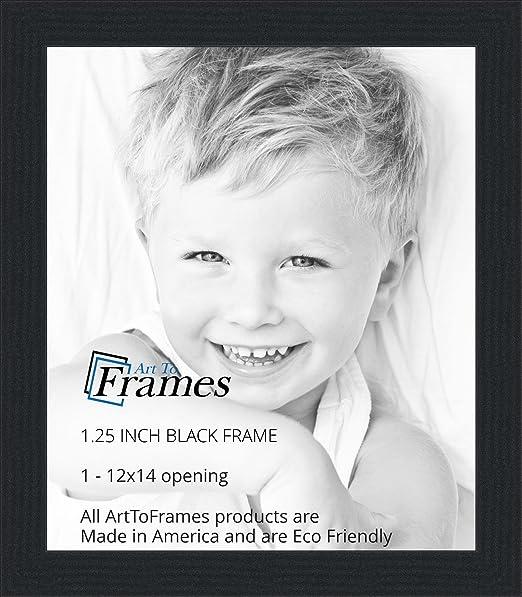 Amazon.com - ArtToFrames 12x14 inch Black Picture Frame ...