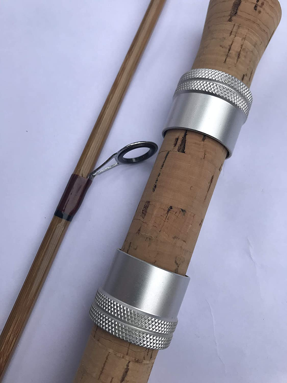 zhurod 竹製スピニングロッド 5フィート5インチ 2ピース ベイトロッド スピンフィッシングロッド UL   B07L86LBT5