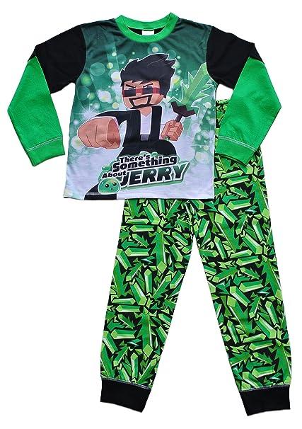 ThePyjamaFactory - Pijama dos piezas - para niño verde verde 10-11 Años