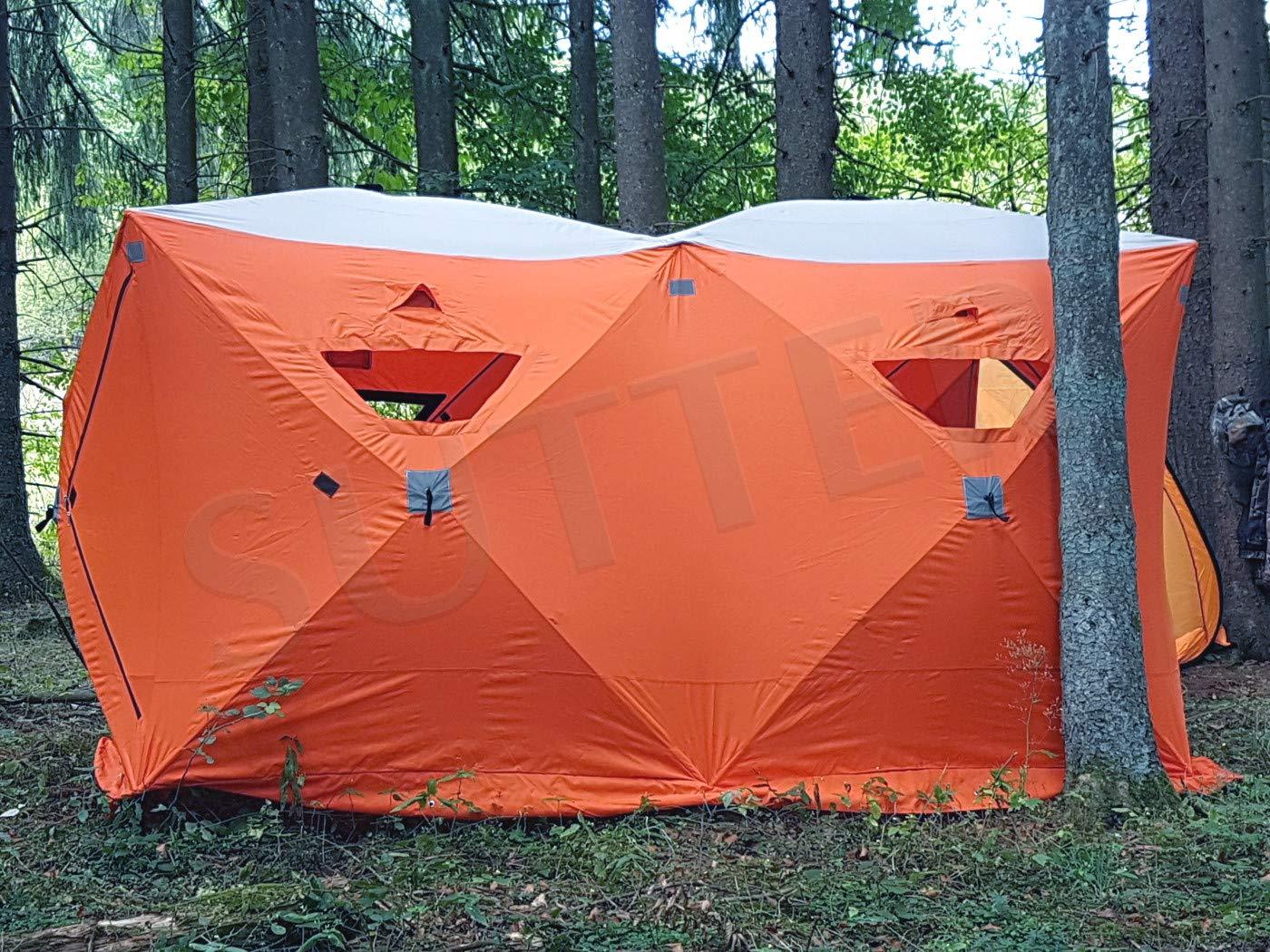 SUTTER Extra gro/ßes Quick-Up Zelt 300x150cm Eiszelt // f/ür Eisangeln /& Eisfischen u.a // Schnellaufbauzelt Jagdzelt Campingzelt Quicktent//Optimal gesch/ütz