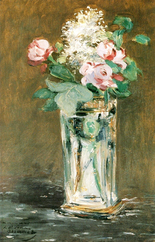 Flowers in aクリスタル花瓶1 – キャンバスまたはFine印刷壁アート Fine Paper - 18 x 24 Fine Paper - 18 x 24  B008KCL4PK