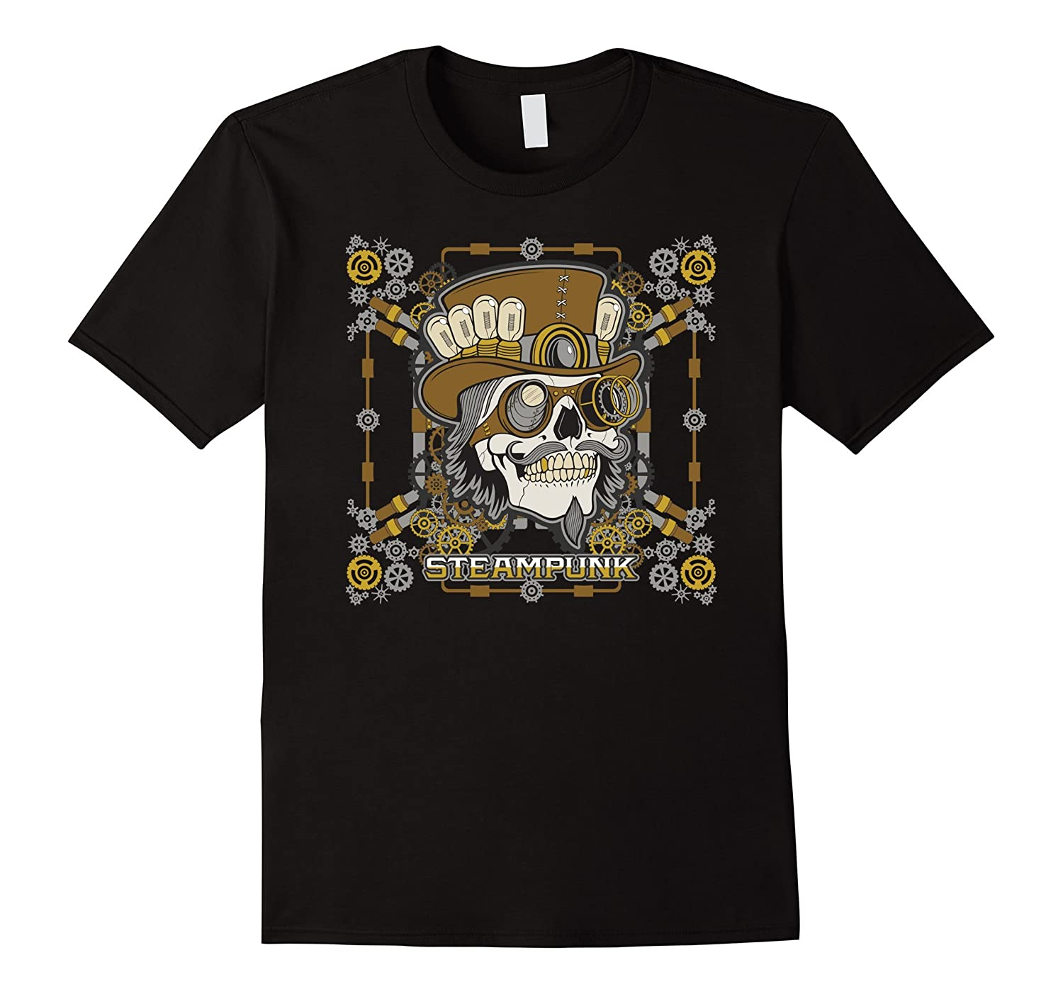 Steampunk Mechanical Skull T-shirt